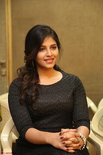 Anjali in Black Short Dress at Chitrangada Movie Success Meet ~  010.JPG