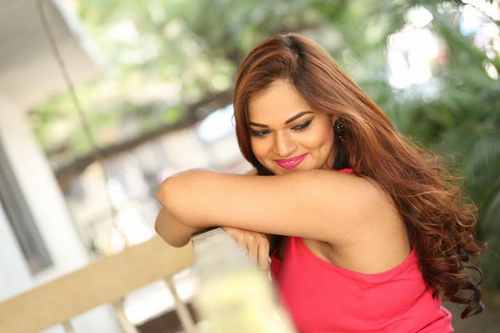 Ashwini Stills in Pink Sleeveless
