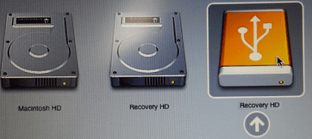 boot to recovery usb mac