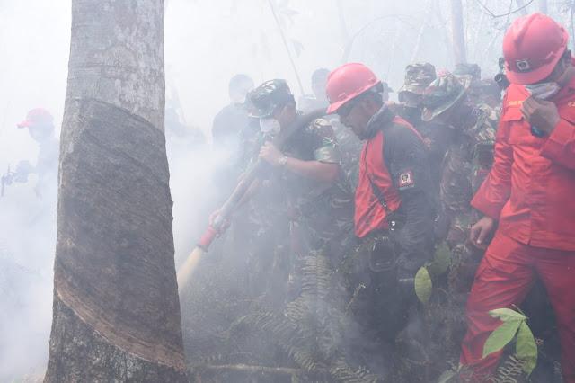 Atasi Karhutla di Pulau Rupat, TNI Membuat Modifikasi Water Bombing