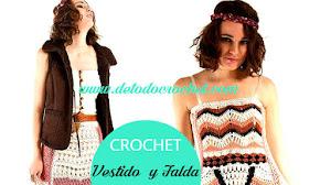 Vestido y Faldas con aire bohemio / Patrones Crochet