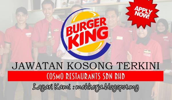 Jawatan Kosong di Burger King