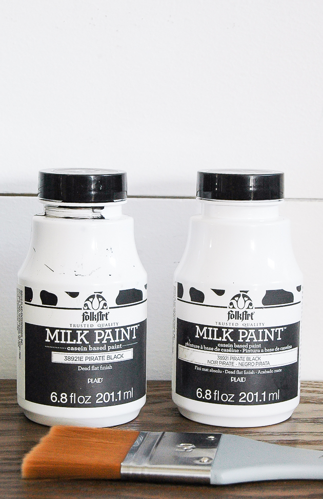 Black milk paint