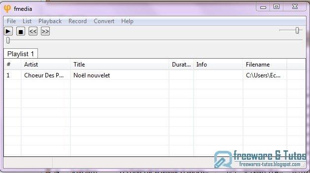 Fmedia : un logiciel portable pour lire, enregistrer et convertir des fichiers multimédia
