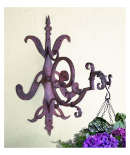 Iron Gothic Scroll Hanging Bracket
