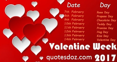 Sayari Valentine Week List 2017 | Rose day and hug day kiss day chocolate day list