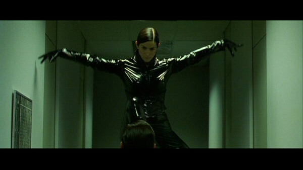 "The Matrix (1999) from Warner Bros. Pictures. Written and directed by ""The Wachowskis""."