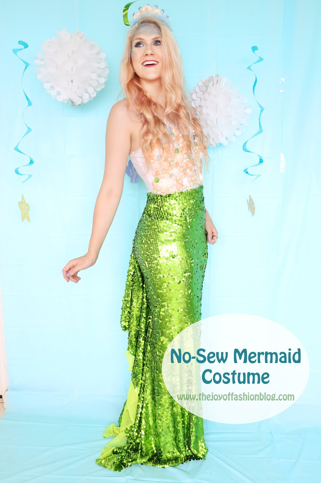 Pretty Homemade Mermaid Costume. Click through for tutorial