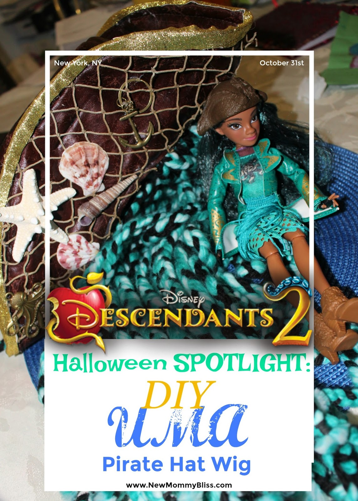 Halloween SPOTLIGHT: DIY UMA Descendants 2 Pirate Hat Wig