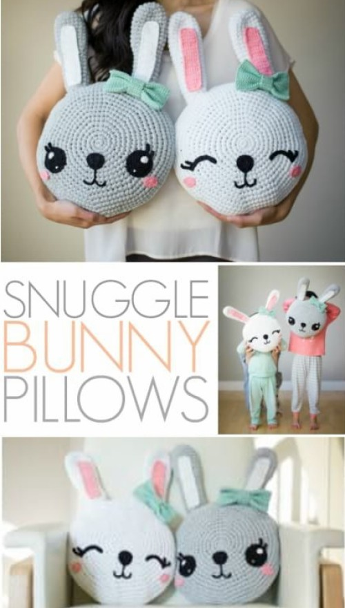 Snuggle Bunny Pillows - Free Pattern + Tutorial