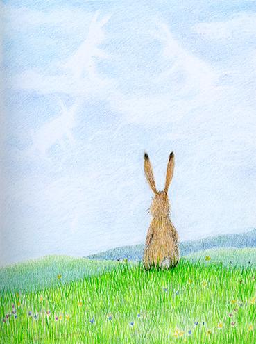 daydreaming bunny illustration yara dutra