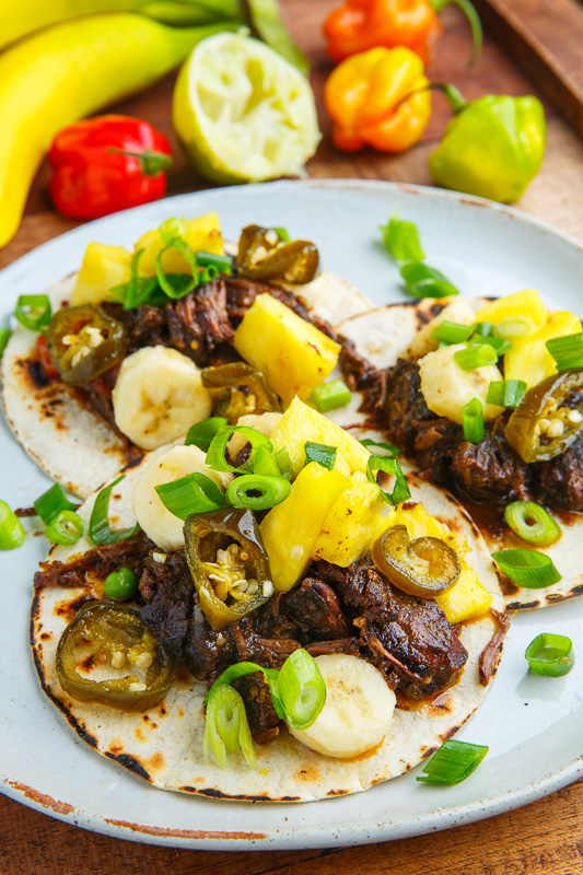 ... Jerk Beef Tacos with Pineapple and Banana Salsa on Closet Cooking