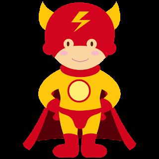 Clipart de Super Héroes Bebés para Imprimir Gratis.