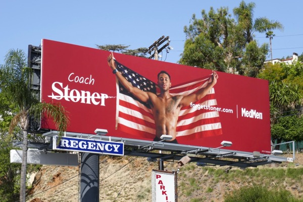 Coach Forget Stoner MedMen billboard