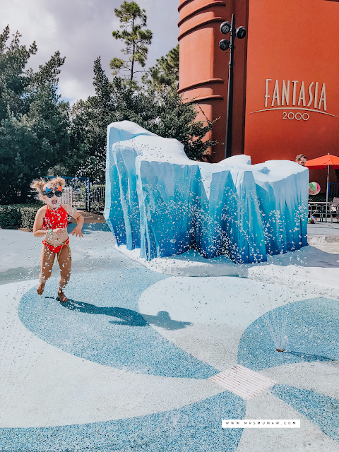 All Star Movies Resort Pool, Fantasia Splash Pad