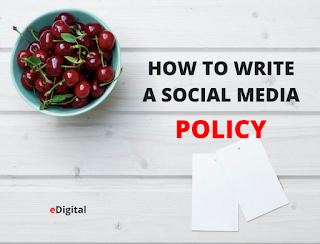HOW TO WRITE THE BEST SOCIAL MEDIA POLICY + TEMPLATE