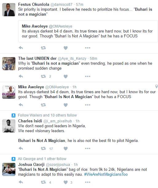 Buhari is not a magician trending as naira hits N425/$ at black market