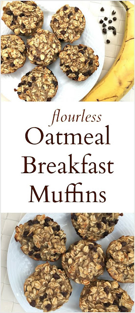Flourless Oatmeal Breakfast Muffins