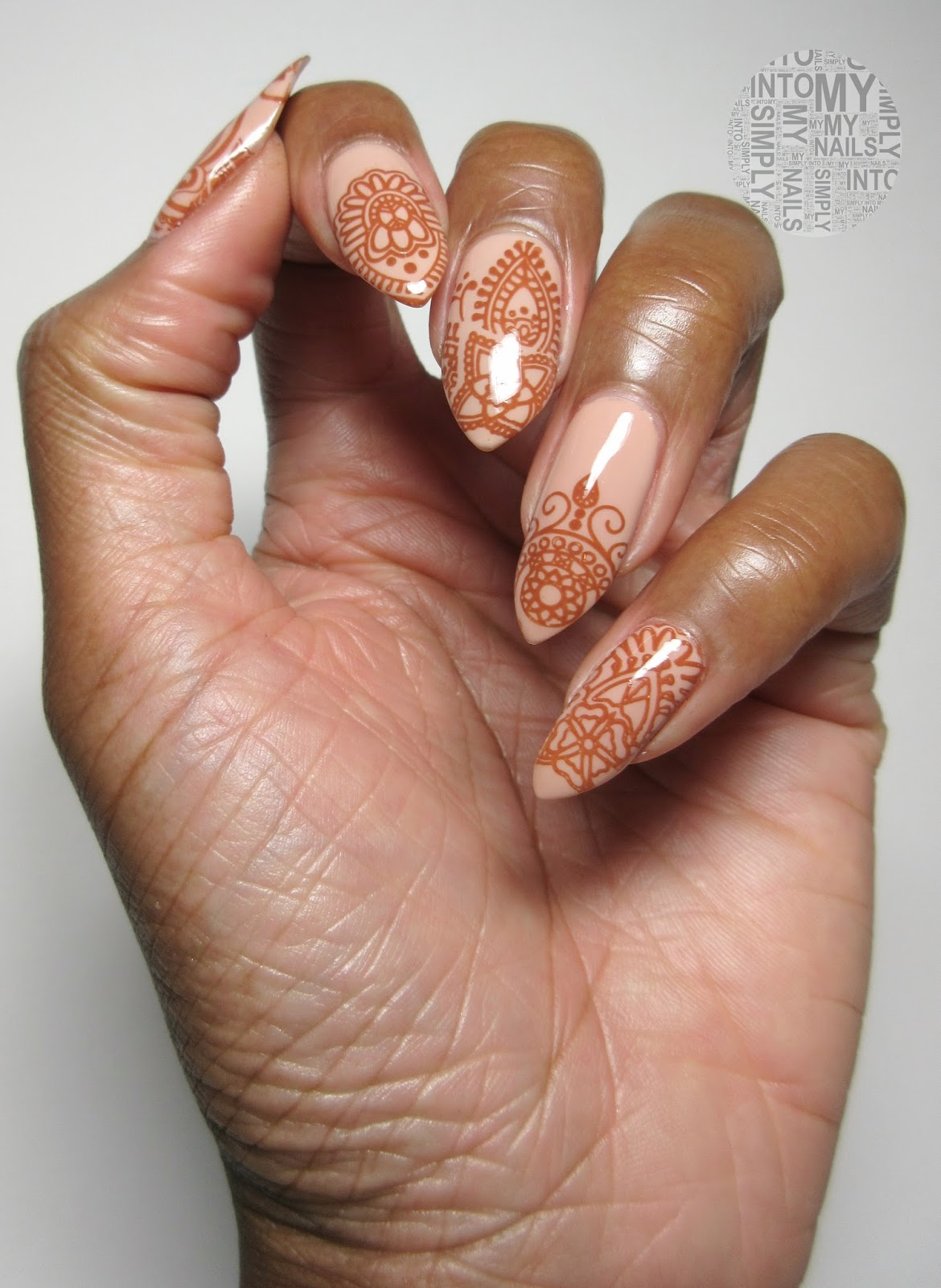 Henna Inspired Manicure Simply Into My Nails