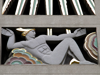 The History of Man Art Deco sculpture Rockefeller Plaza