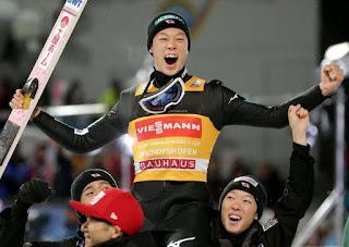 SALTOS DE ESQUÍ - Grand Slam para Kobayashi en el Cuatro Trampolines convirtiéndose en el segundo nipón campeón del torneo