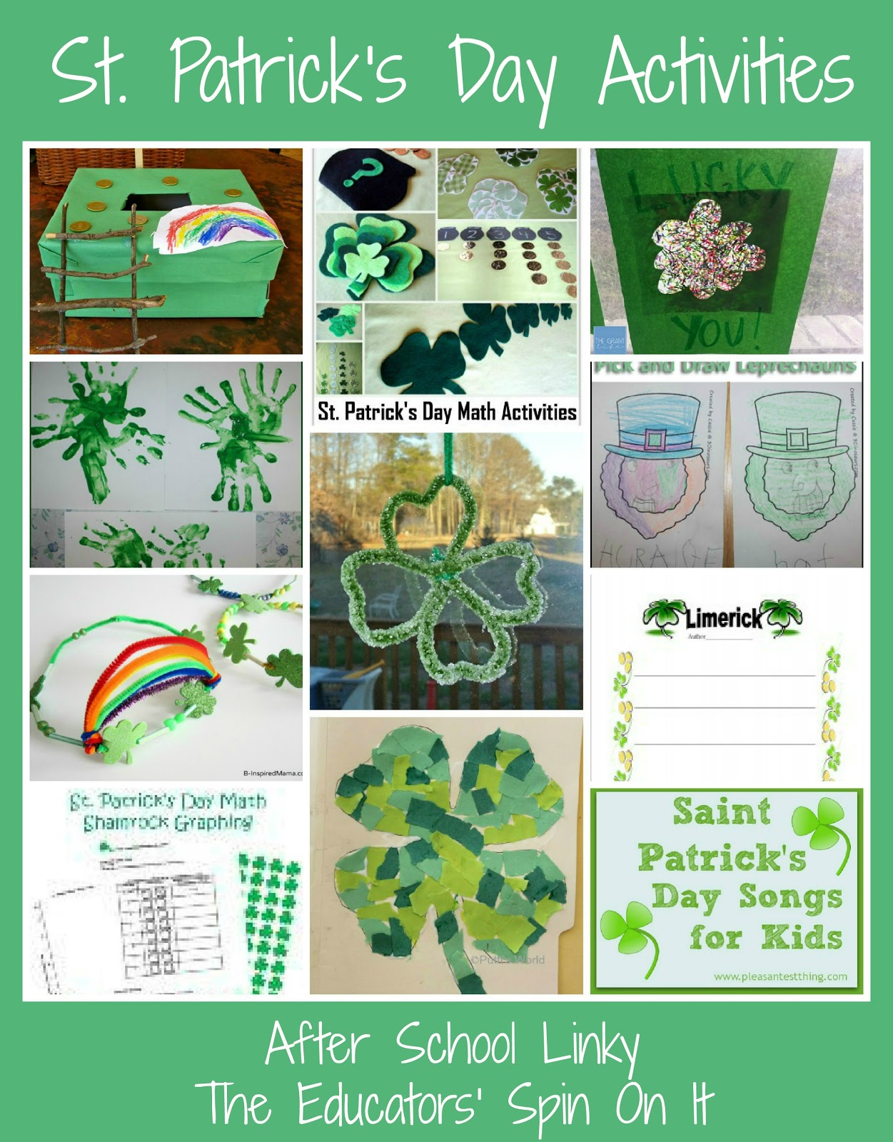 St.+Patrick's+Day+Activities+from+After+School+Linky - St Patricks Day Activities For Kindergarten