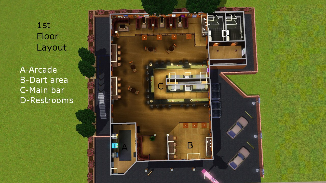 my sims 3 blog a sports bar and grill by rtanner. Black Bedroom Furniture Sets. Home Design Ideas