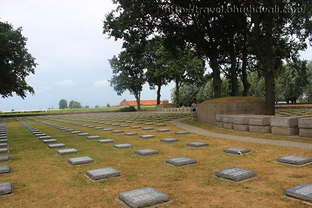 Langemark German cemetery First World War Ypres Salient