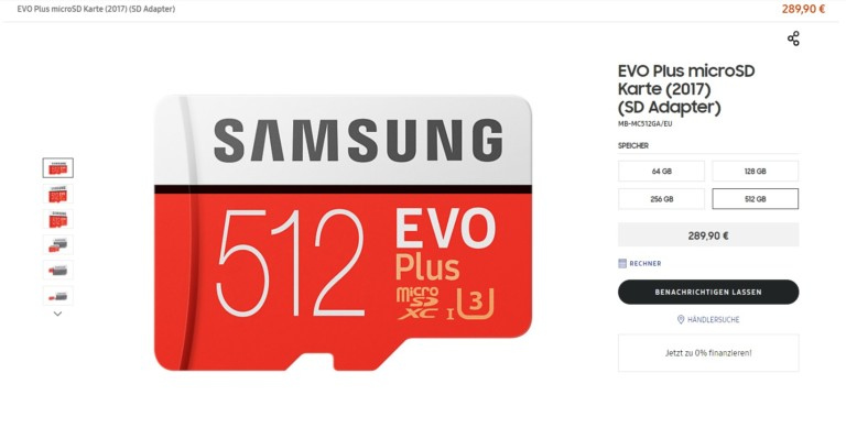 Microsd Karte 64 Gb.Samsung S 512gb Microsd Card Costs As Much As An Android Mid Range