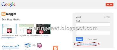 Solusi Lupa Password Blogger