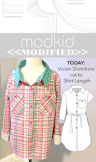 Modkid Vivian Shirtdress cut to Shirt Length