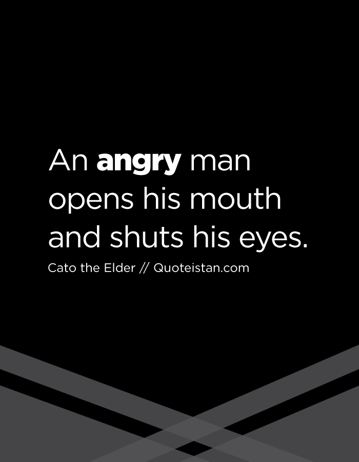 An angry man opens his mouth and shuts his eyes.