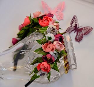 Wedding flower tiara