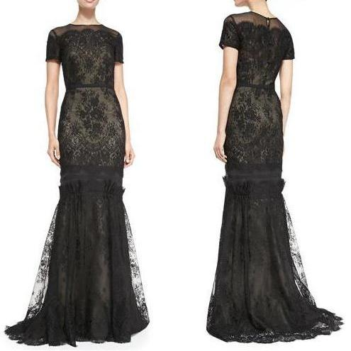 Queen Letizia - CAROLINA HERRERA Tiered Lace Evening Gown Dress