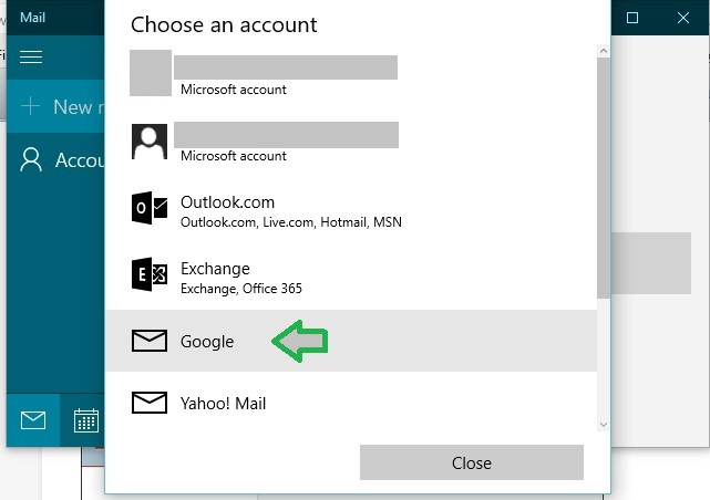 Windows 10 How to add Gmail to Windows 10 mail and calendar app?