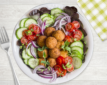 Falafel and Winter veggie bowl