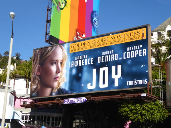 Joy Golden Globes movie billboard