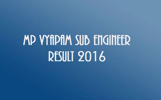 MP-Vyapam-Sub-Engineer-Result-2016