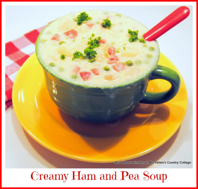 Creamy Ham and Pea Soup at Miz Helen's Country Cottage