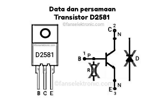 Persamaan Transistor D2581