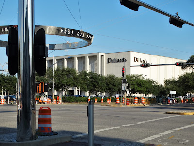 Dillard's store at the Galleria - road work nearby at Westheimer - Post Oak intersection