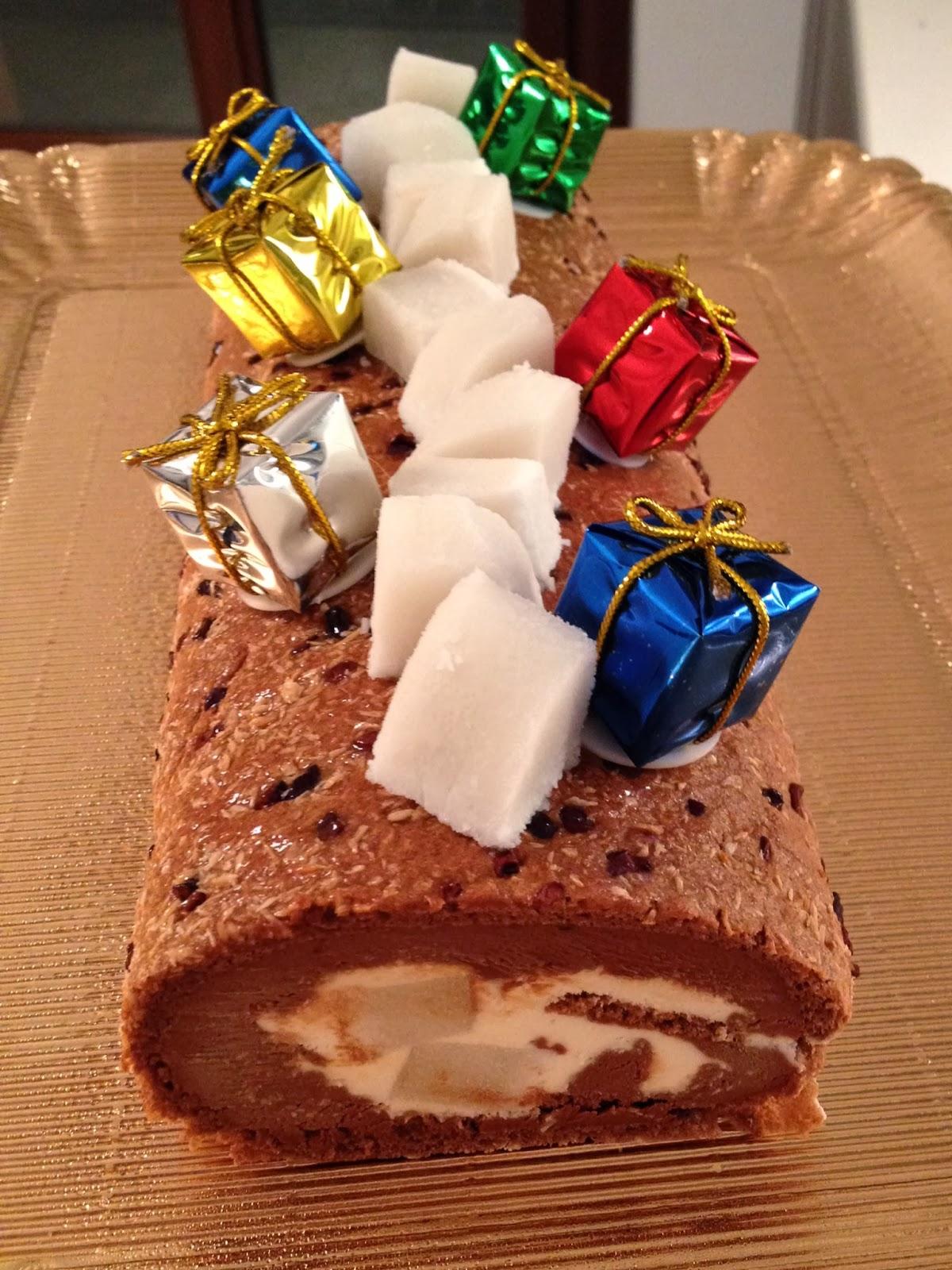 Tronchetto Di Natale Luca Montersino.La Pasticcioneria Tronchetto Chocococco Di Luca Montersino