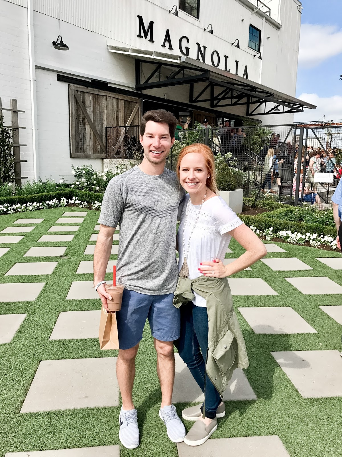 Amy and Cory at Magnolia Market