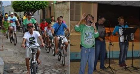 Santana do Ipanema: Com pedaladas e forró pé de serra, Agripa comemora Dia do Rio Ipanema