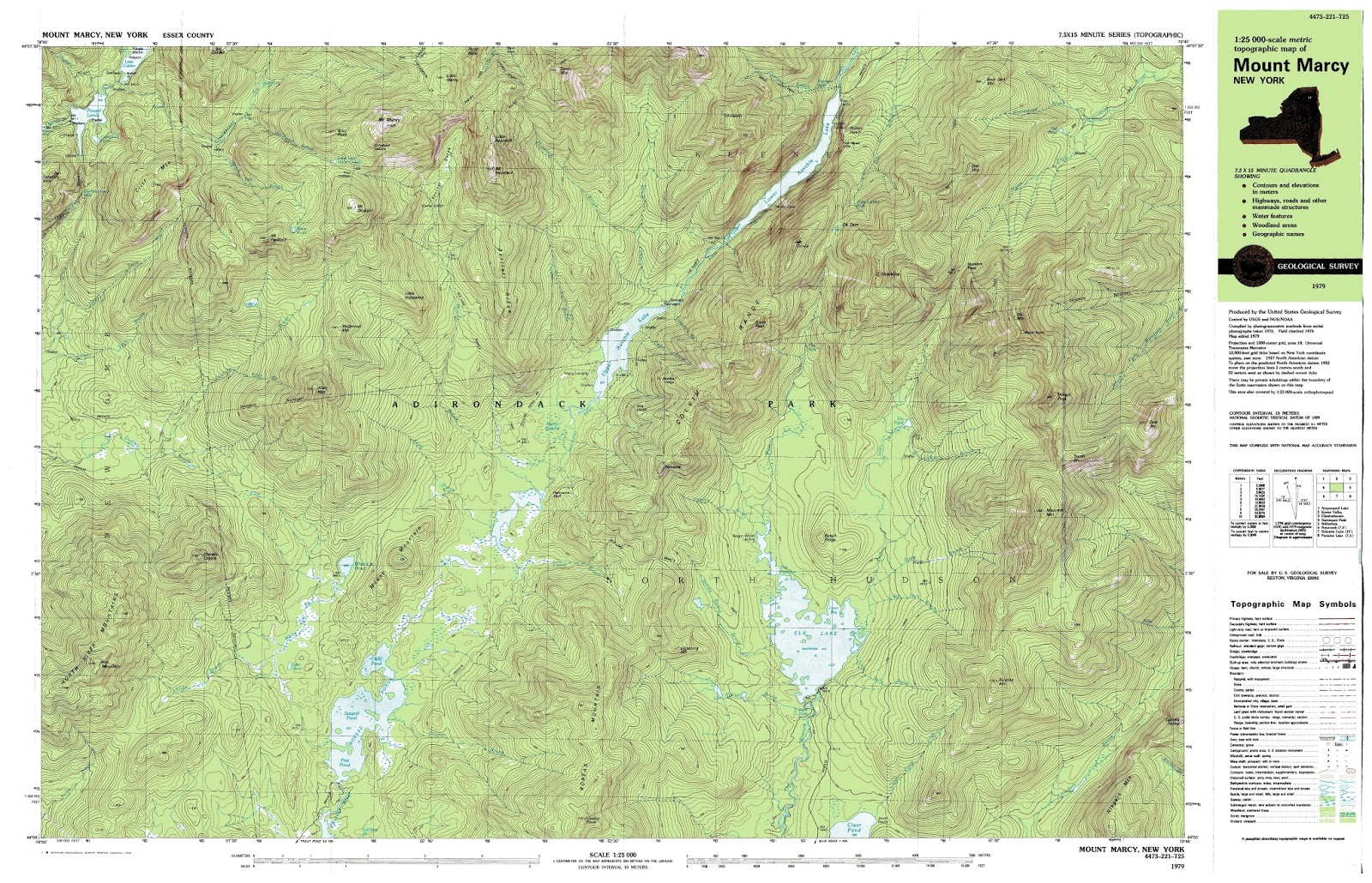 example of a topographical map