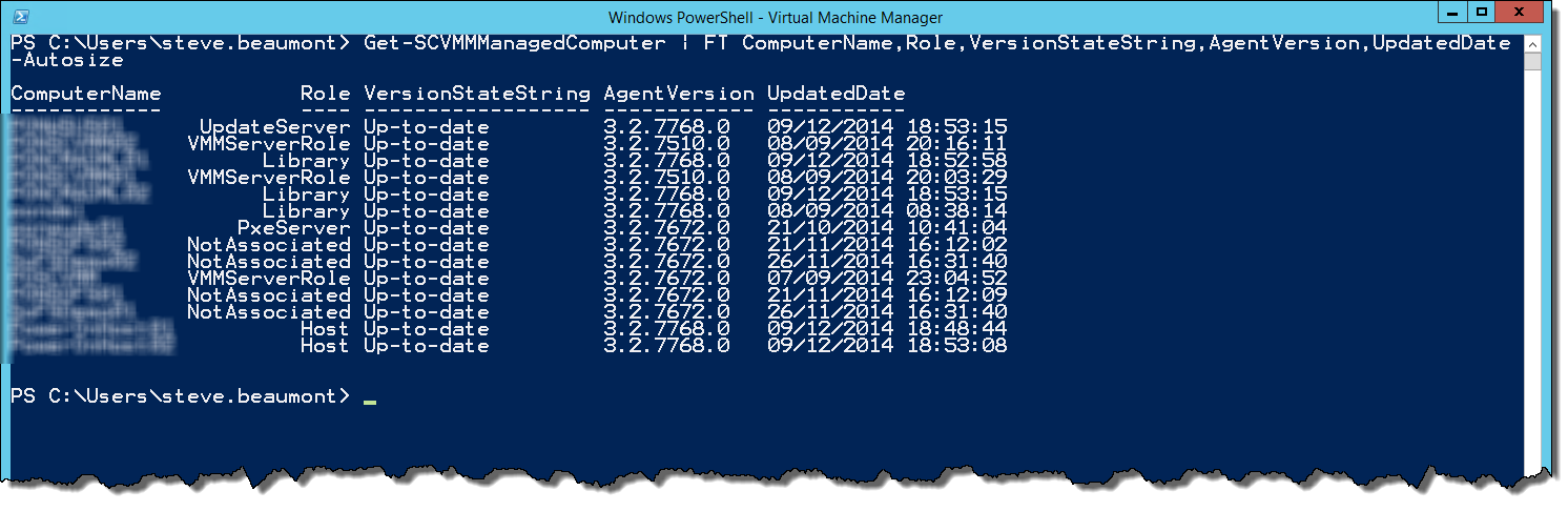 What needs an Agent update     - Microsoft System Center Suite