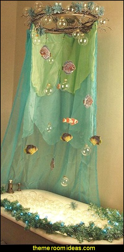 Little Mermaid bathroom mermaid theme ocean theme underwater theme decorating