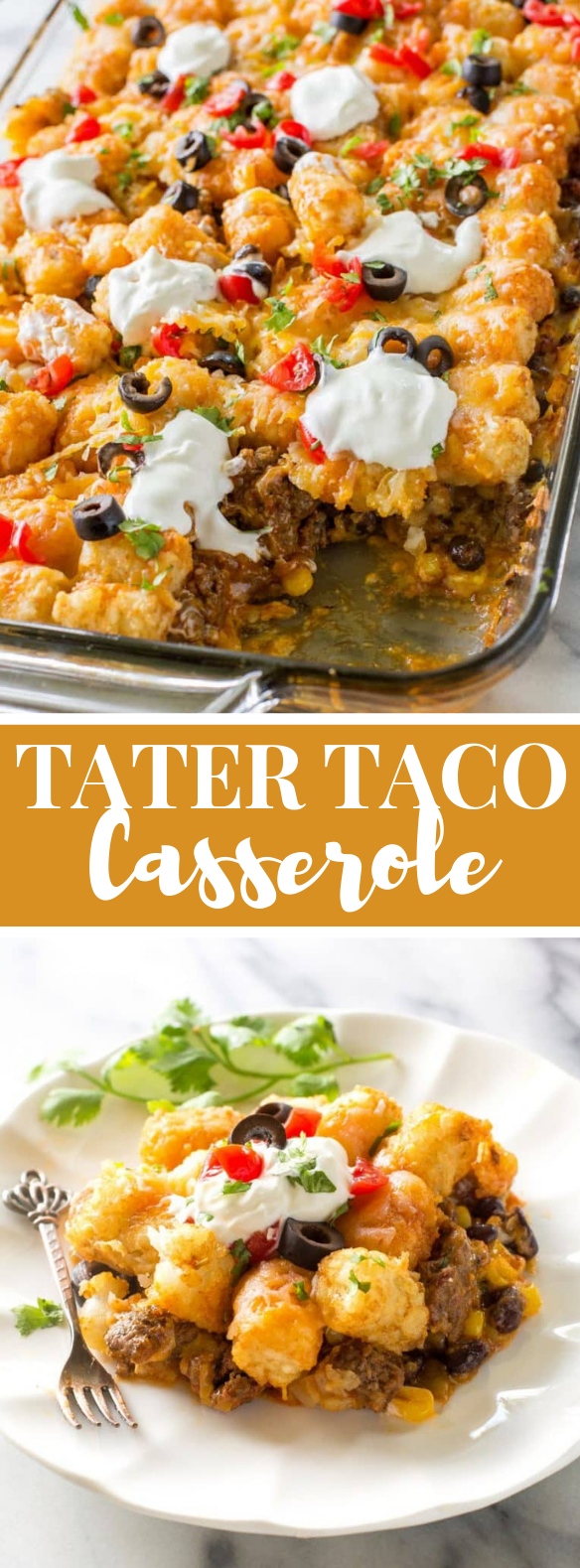 TATER TACO CASSEROLE #dinner #mexican