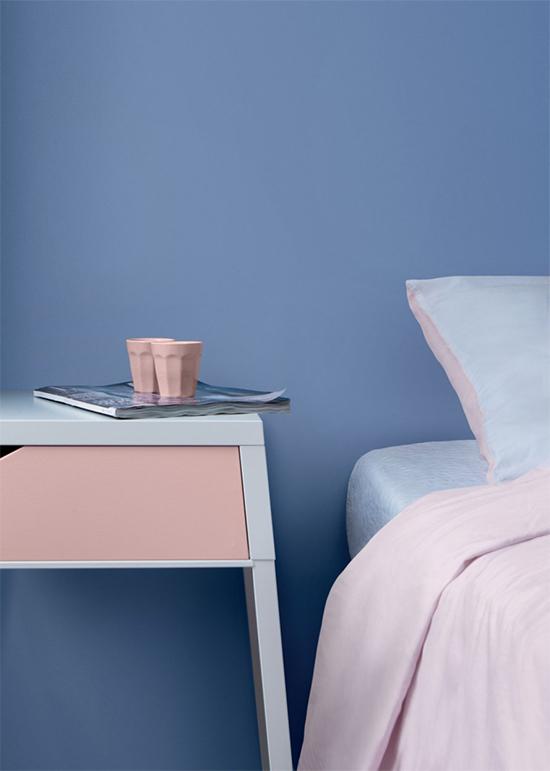 pantone 2016, rosa quartzo, azul serenidade, rose quartz, serenity, comoda colorida, parede colorida, quarto, bedroom, decoração