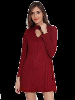 dresslily crvena haljina